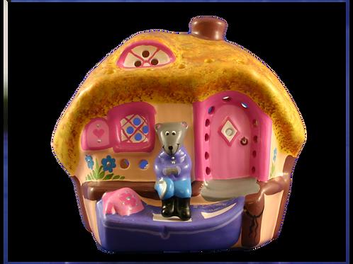 Handmade Ceramic 'Ratty's Cottage' Children's Nightlight