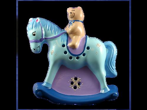Handmade Ceramic 'Rocking Horse' Children's Nightlight [2 colours]