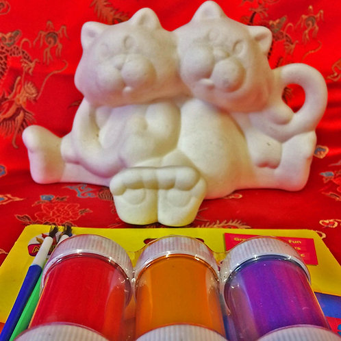 'Paint Your Own' Kit 29 -Two sitting cats