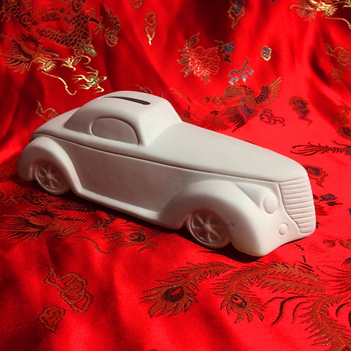 'Paint Your Own' Kit 143 -Small vintage car money bank
