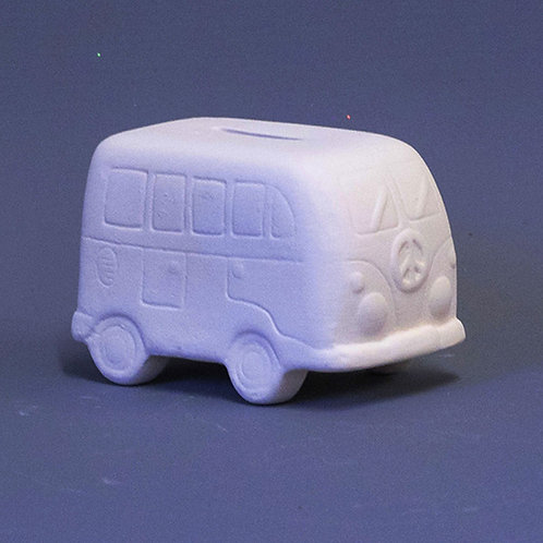'Paint Your Own' Kit 167 - Camper Van money box