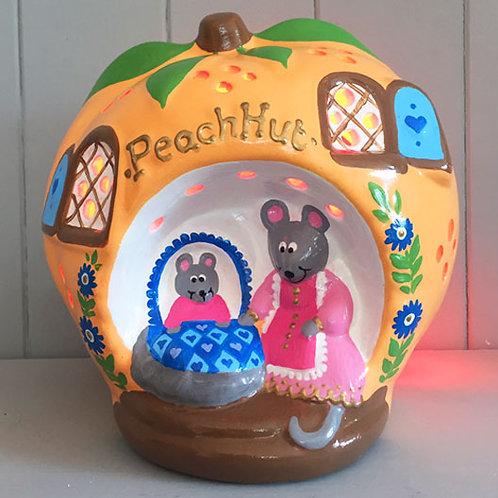 Handmade Ceramic 'Peach Hut' Children's Nightlight