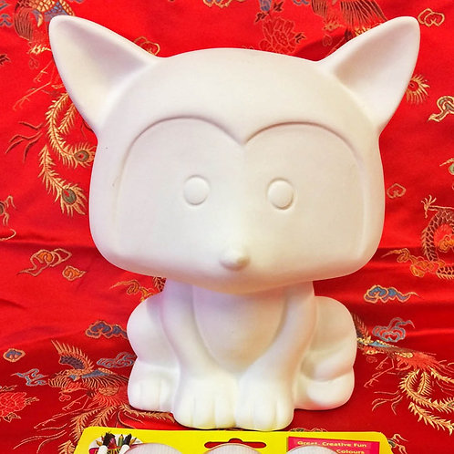 'Paint Your Own' Kit 10 - Fox Money Bank