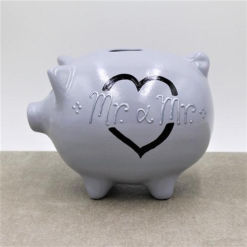 Big heart Wedding Piggybank options Mr&Mrs/Mr&Mr/Mrs&Mrs (More colours)