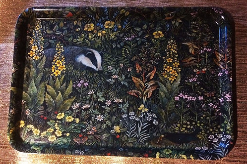 Badger Tray featuring Barbara Winrow original print