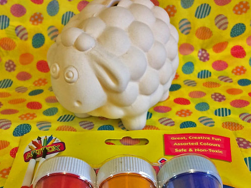 'Paint Your Own' Kit 44 - Small sheep money box