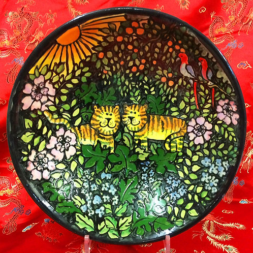 Hand-thrown Limited edition-Jungle bowl