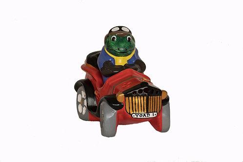 Handmade Ceramic 'Toad in Fast Car' Children's Nightlight