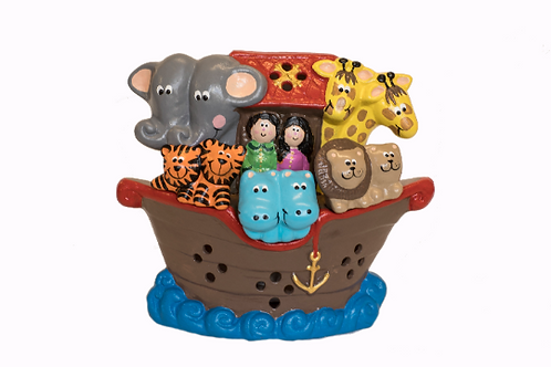Handmade Ceramic 'Noah's Ark' Children's Nightlight [4 colours]
