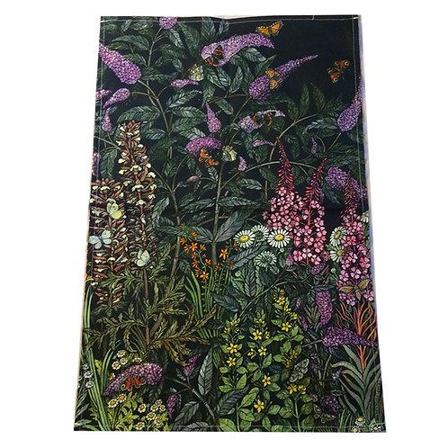 Butterfly bush Tea towel featuring Barbara Winrow original print
