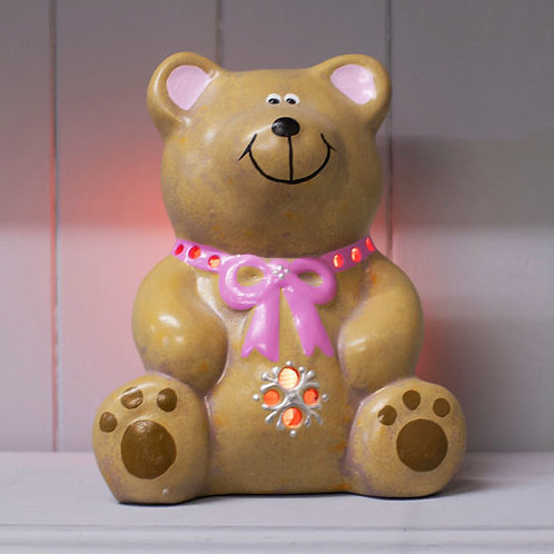 Handmade Ceramic 'Little Teddy' Children's Nightlight [2 colours]