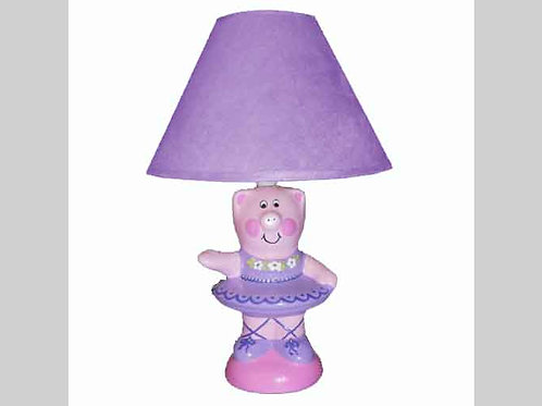 Children's Piggy Ballerina Lamp