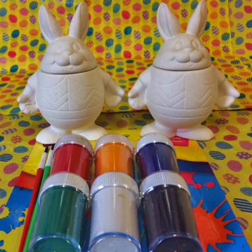 'Paint Your Own' Kit 4 - Easter Rabbit Jars