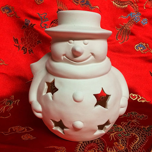 'Paint Your Own' Kit 104 - Snowman Tealight