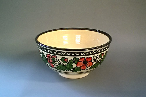 Hand-thrown Poppy Mixing Bowl