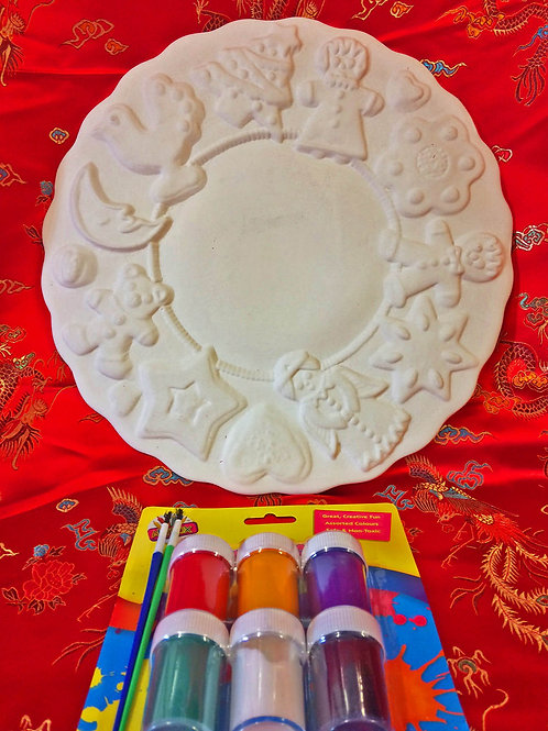 'Paint Your Own' Kit 31 - Decorative Christmas plate