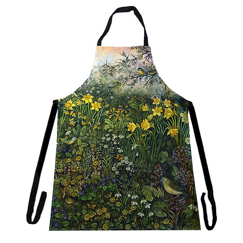 March Apron featuring Barbara Winrow original print