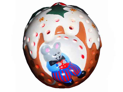 Christmas Pudding Mouse Night Light