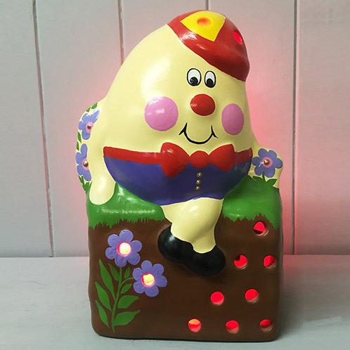 Handmade Ceramic 'Humpty Dumpty' Children's Nightlight