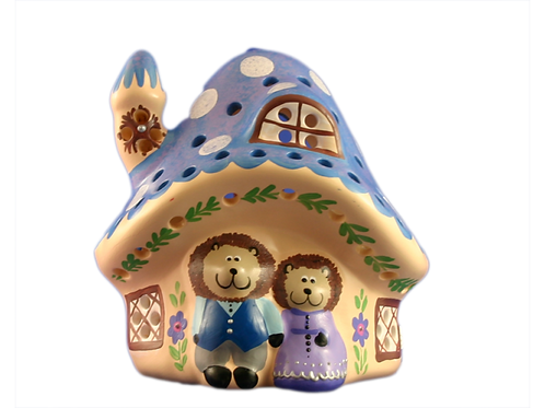 Blue Hedgehog House Night Light
