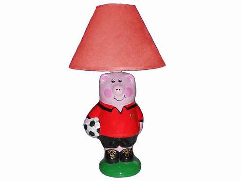 Children's Piggy Footballer Lamp