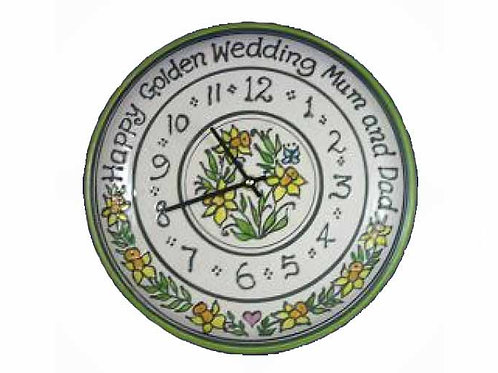 Personalised Handmade Commemorative Daffodil Clock