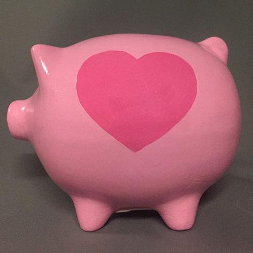 Big Heart Piggy Bank