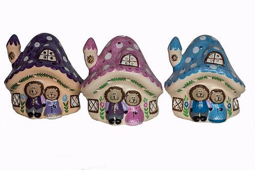 Handmade Ceramic 'Hedgehog House' Children's Nightlight [3 colours]