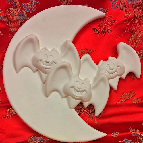 'Paint Your Own' Kit 60 - Bat & Moon wall plaque