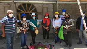 Mayordomos y colaboradores visitan avance de obra en Belén