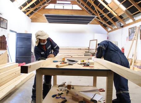 Proyecto de restauración avanza en Escuela Taller Sarañani