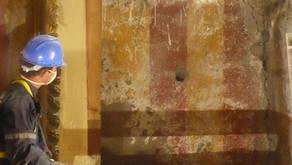 Hallazgos de pintura mural en la iglesia de San Santiago de Belén