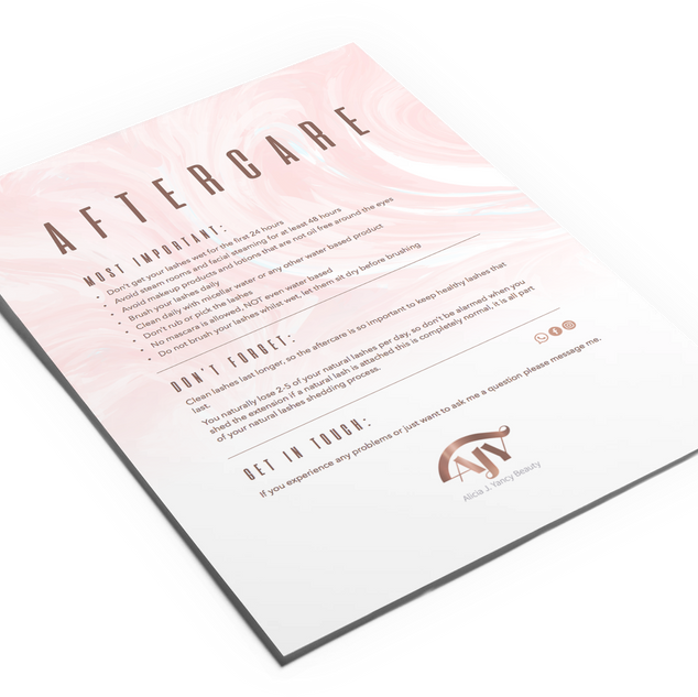 Aftercare Document Design
