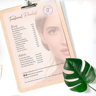 Treatment Pricelist
