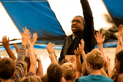 Singing at Festival of Tents