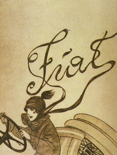 FIAT Advert 1919 sign
