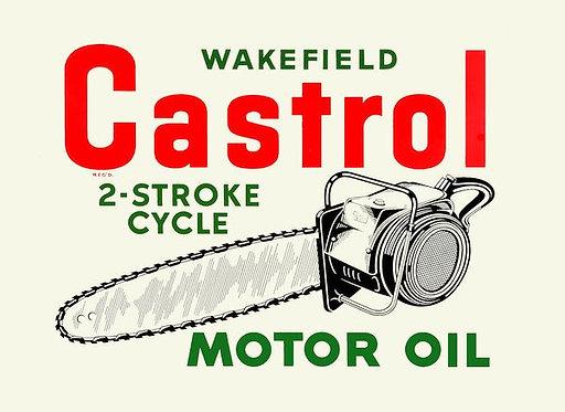 Castrol 2-Stroke Cycle Motor Oil sign