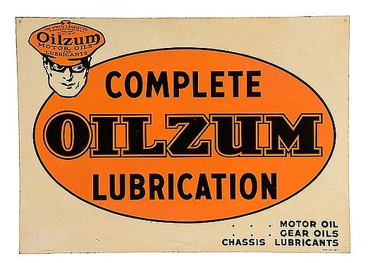 Complete Oilzum Lubrication metal sign