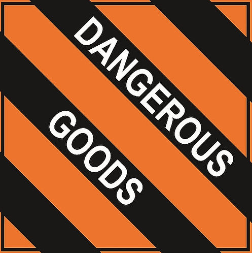 DANGEROUS GOODS warning sign