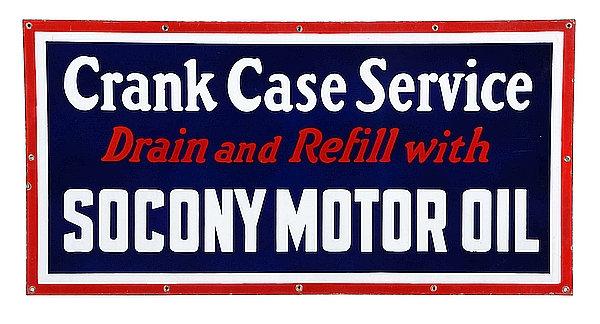 Socony Motor Oil metal sign