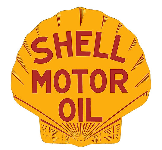Early Shell Motor Oil metal sign