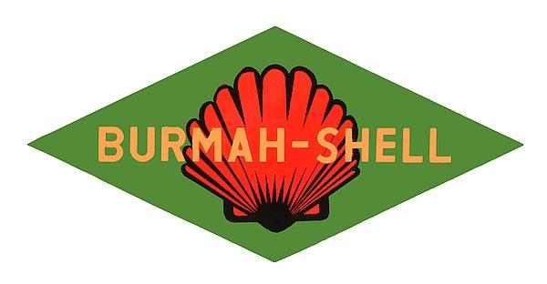 Burmah-Shell metal sign