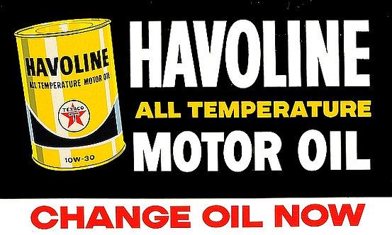 Havoline Oil metal sign