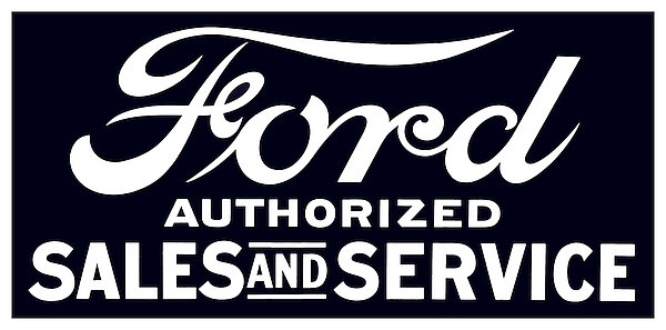 Ford - Authorized Sales and Service metal sign