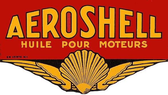 French market Aeroshell metal sign