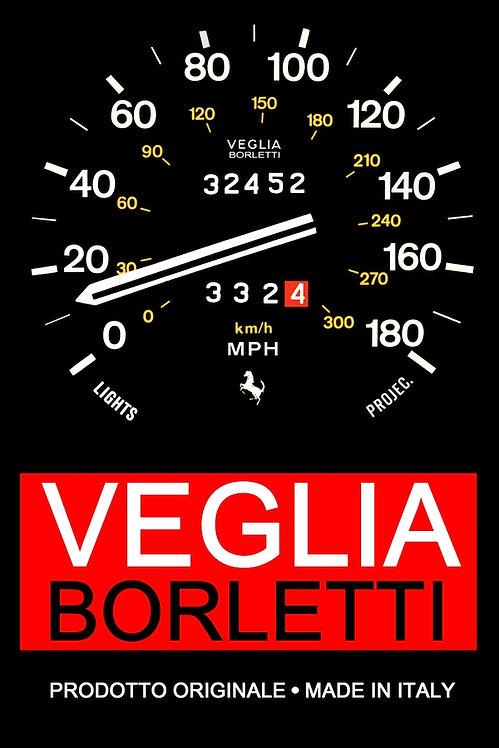 Veglia Borletti sign - 1970s fantasy (portrait) metal sign