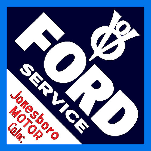 Early Ford V8 Service metal sign