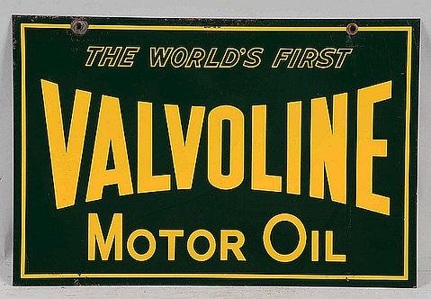 Valvoline Motor Oil metal sign