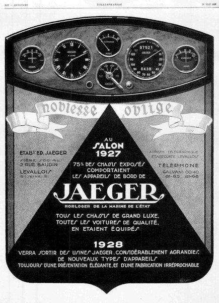 Jaeger instruments advert 1927