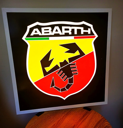 Abarth Badge - Illuminated Sign